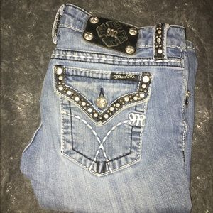 Miss Me Jeweled Bootcut Jeans